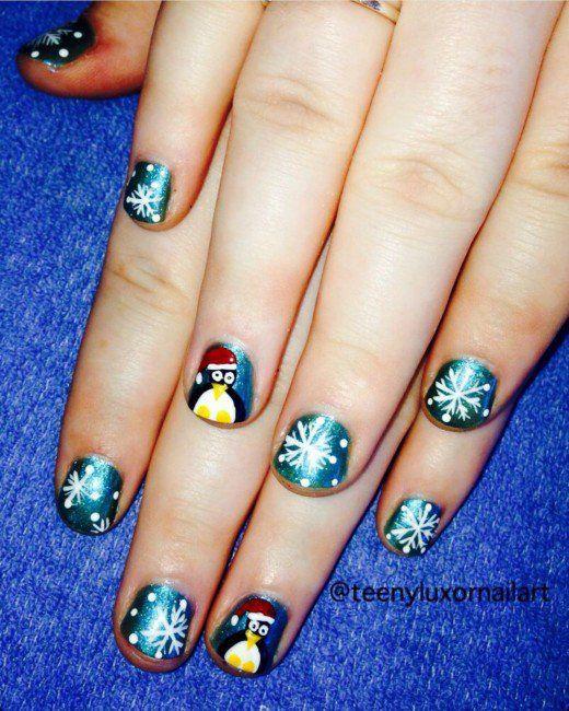 Awesome Christmas Nail Designs Easy Nail Art Designs Easy Nail
