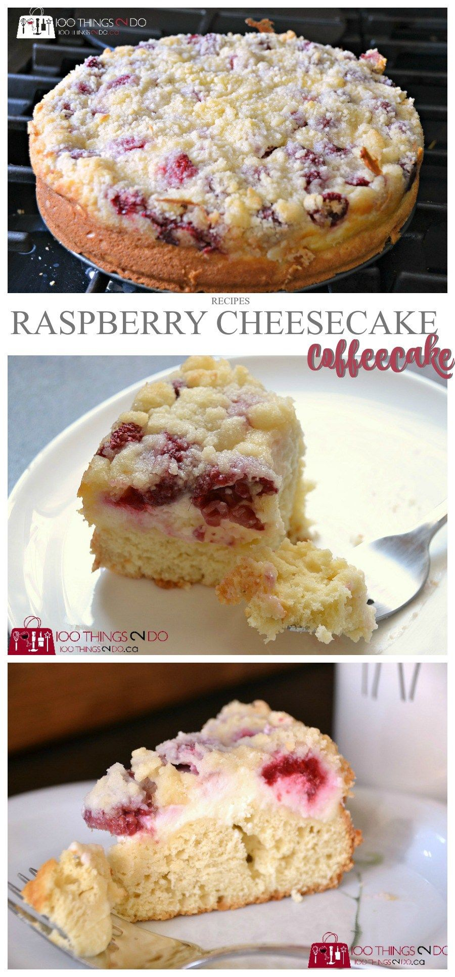 Sour Cream Coffee Cake Raspberry Cheesecake With Shortbread Streusel Raspberry Recipes Sour Cream Recipes Sour Cream Coffee Cake