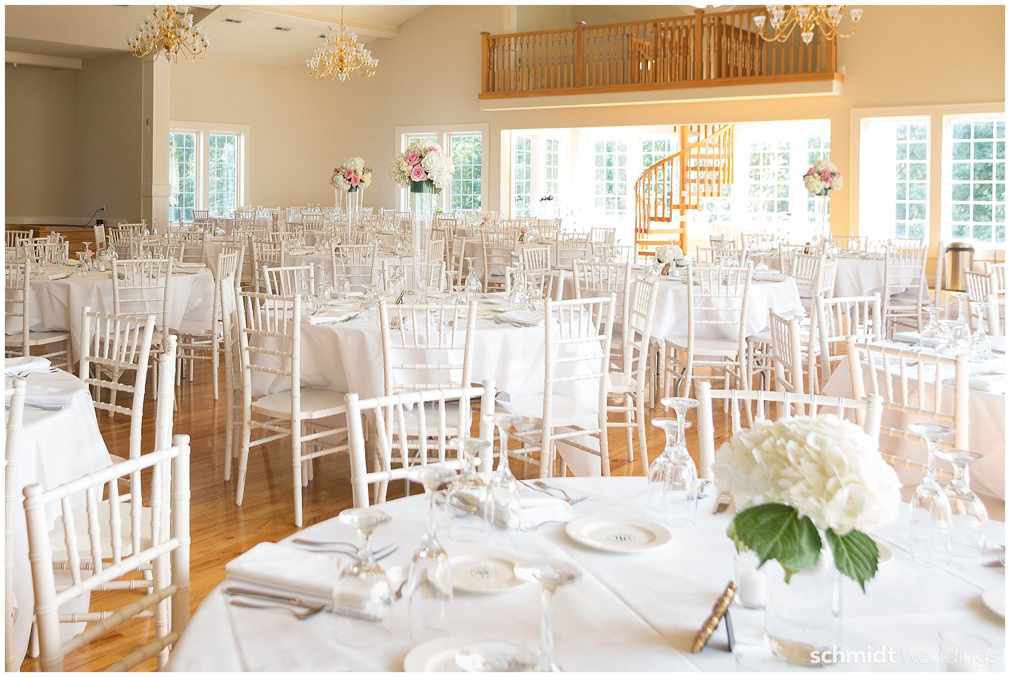 Wedding reception decoration ideas with white linens in Kansas City ...