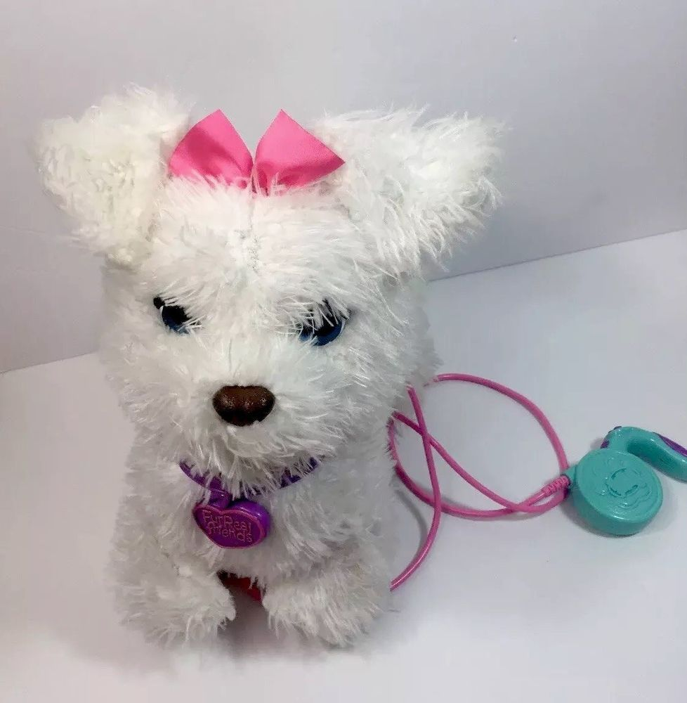 Furreal Friends Get Up Gogo My Walkin Pup White Dog W Leash Fur Real Friends Hasbro Fur Real Friends Toy Puppies Pup