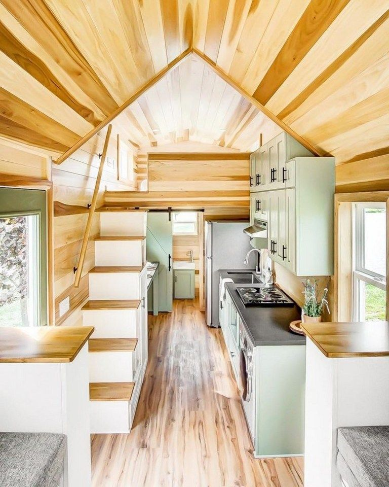 50 Cozy Simple Home Decorating Ideas For You 40 Fieltro Net Modern Tiny House Tiny House Kitchen Tiny House Interior