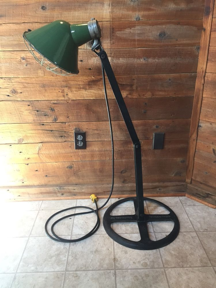 Found Object Up-cycled Industrial Lamp Sculpture Should/'ve Known \u00a9 Spot Light Standing Lamp