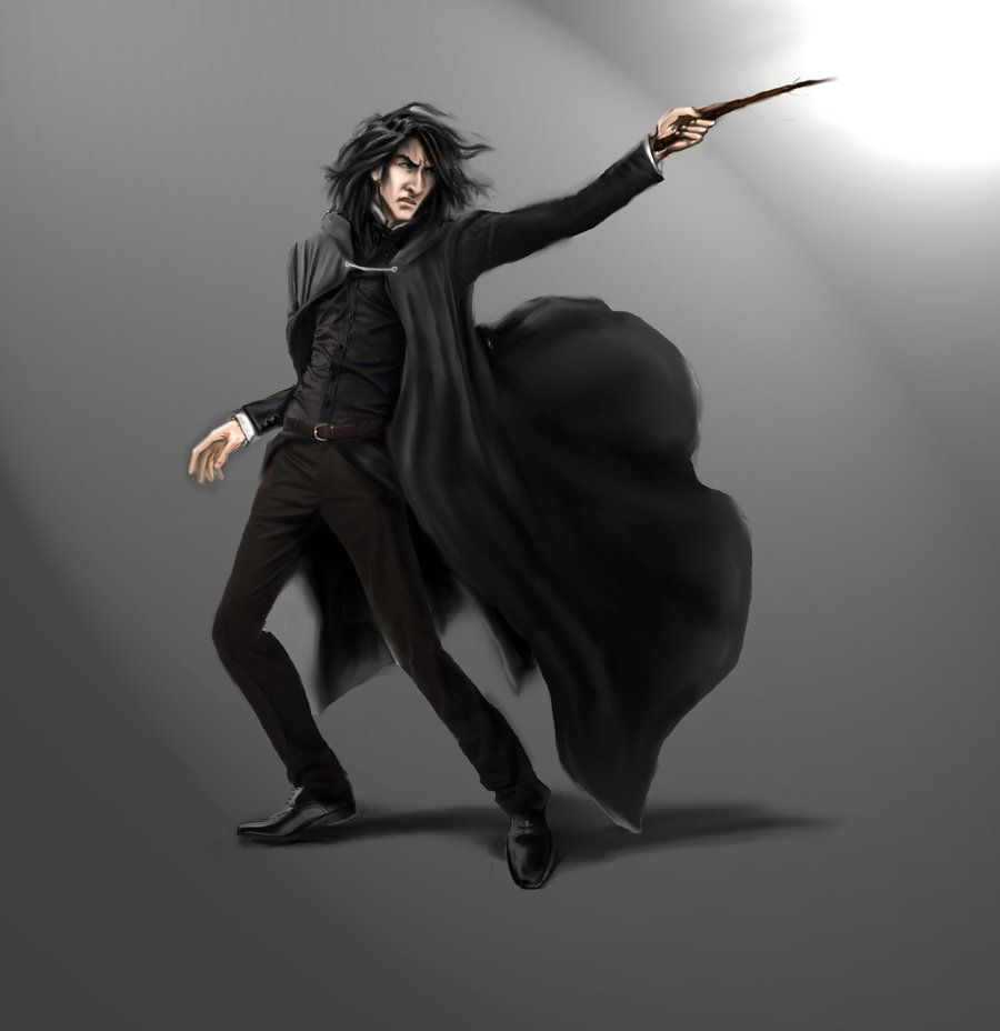 Snape dueling color step 1 by lucife56.deviantart.com on @DeviantArt