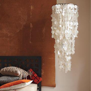 fakin' it | capiz chandelier, cheap chandelier and wax