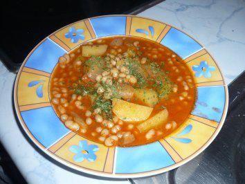 Weiße Bohnensuppe - Rezept
