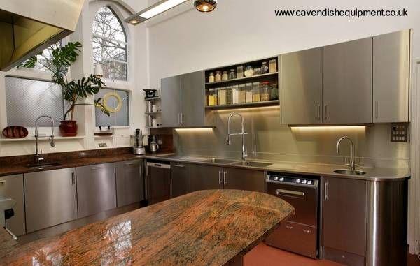 muebles de cocina en acero inoxidable - Buscar con Google | cocinas ...