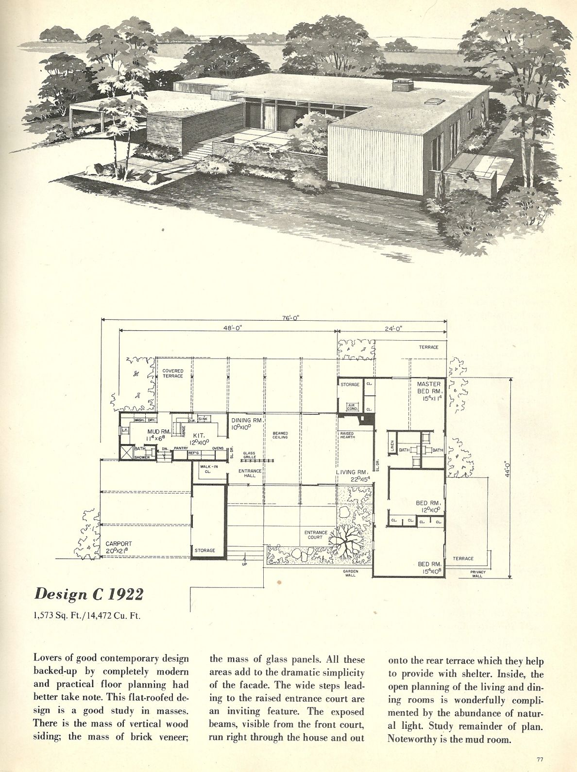 Vintage House Plans 1922 Modern Floor Plans Mid Century Modern