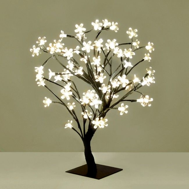 Small Decorative Warm White Blossom Sakura Style Led Tree Light For Indoor Outdoor Use Decoracao Tumblr Abajur Decoracao