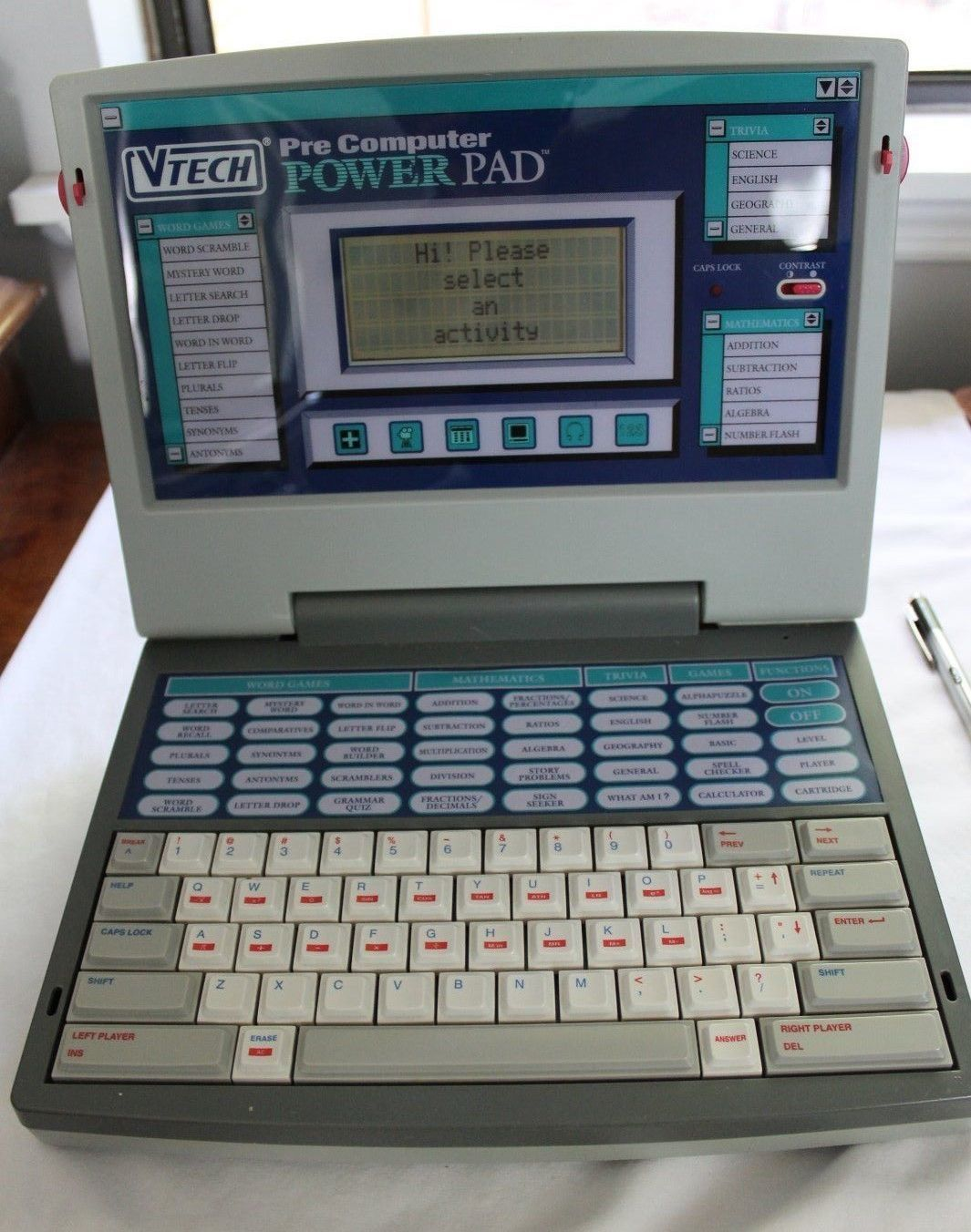 Vintage 1994 Vtech Pre Computer Power Pad Educational Learning Laptop Toy Works Kids Computer Kids Learning Computer Computer