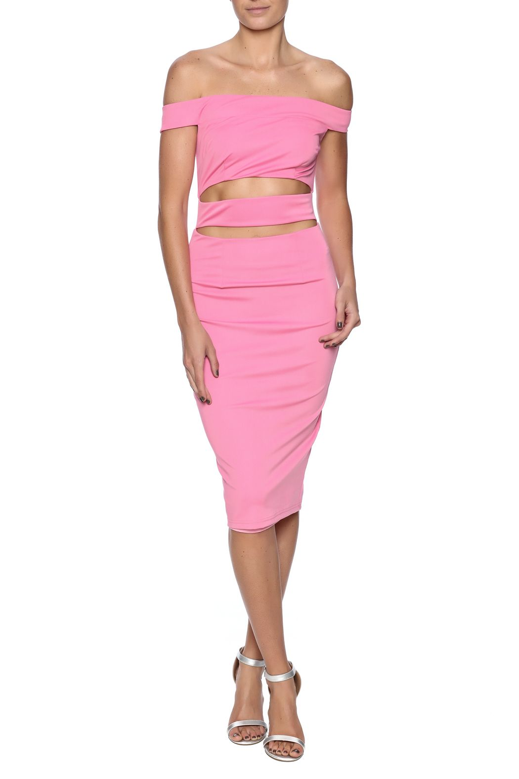Dance & Marvel Pink Cutout Dress
