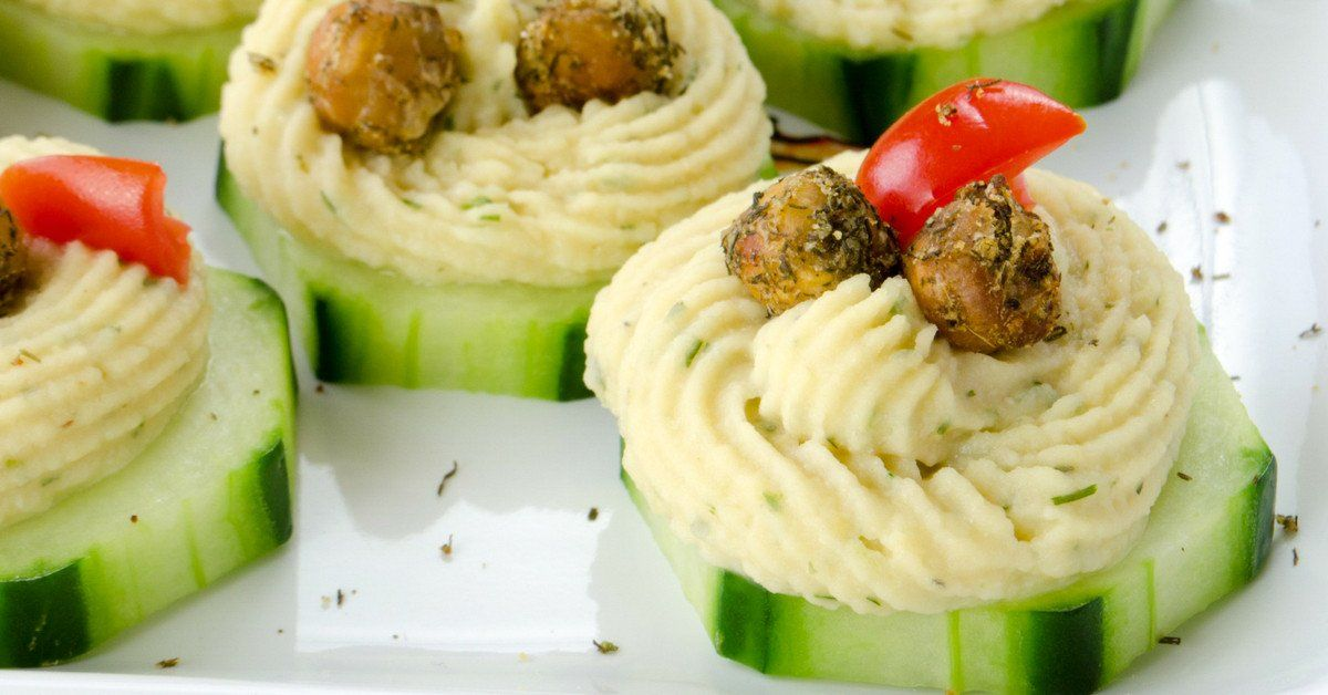 Chickpea & Cucumber Appetizer Appetizer recipes, Healthy