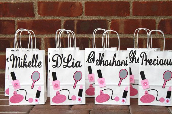 Spa party gift bags