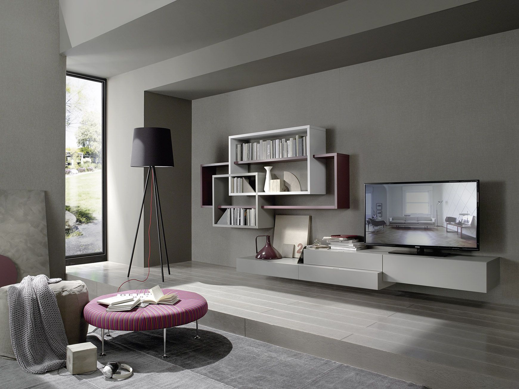 This Kronos S60 Multimedia Unit Has Freely Positioned Shelves Of  # Bitacora Muebles