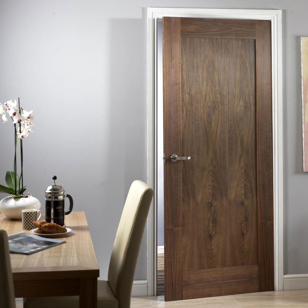 Porto Walnut 1 Panel Door with Lacquer Varnish Finish & Porto Walnut 1 Panel Door with Lacquer Varnish Finish | Walnut doors ...