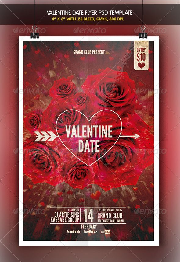 Valentine Date Flyer Template Flyer template, Flyer size and - zombie flyer template