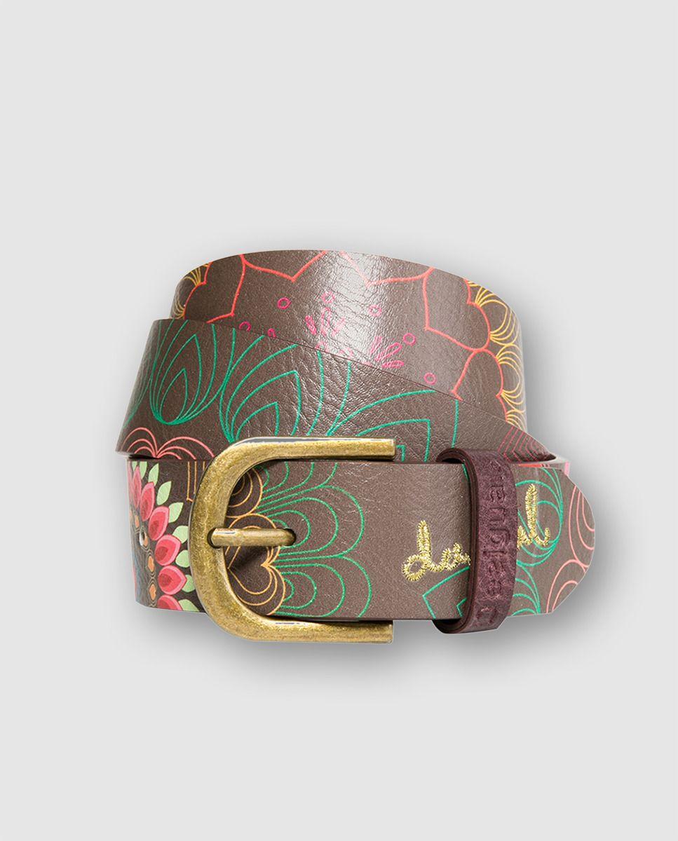 Cinturón Dakota en color marrón con print floral - por DESIGUAL  El Corte  Inglés 2016  ff4ef2e1c0f9