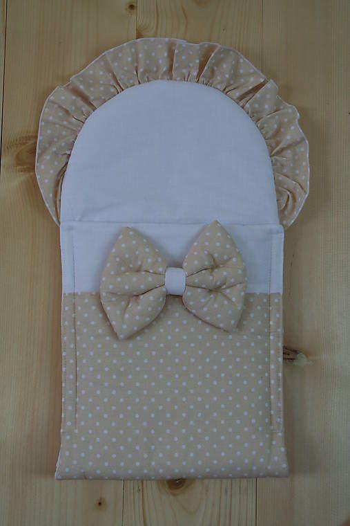 Zavinovačka pre bábiku - béžová / Matajka - SAShE.sk - Handmade Textil