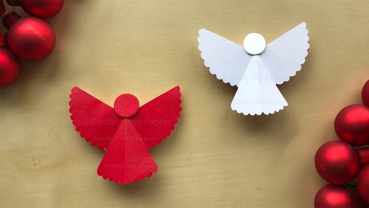 Basteln Weihnachten Engel Basteln Mit Papier Weihnachtsdeko Selber
