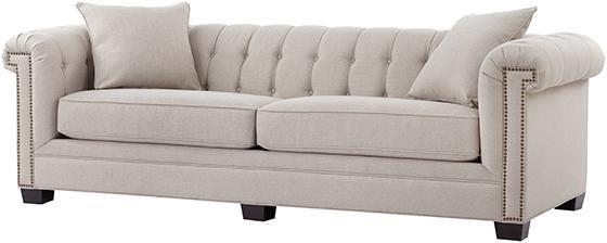 Chandler Arm Long Sofa   Tufted Sofa   Rolled Arm Sofa | HomeDecorators.com
