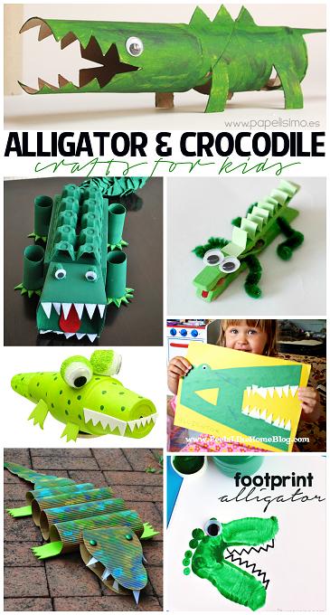 Creative Alligator Crocodile Crafts For Kids To Make