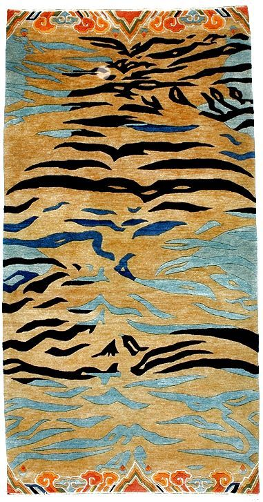 Pure Wool Tibetan Tiger Rugs Abstract Tiger Carpet With Variable Background Tibetan Tiger Rugs Beads Buddhist Ritual Tiger Rug Tibetan Rugs Rugs On Carpet