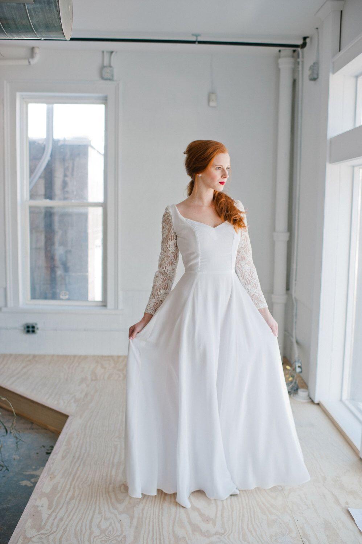 Handmade wedding dress  SAMPLE SALE Astrid Wedding Dress Handmade Wedding Dress elegant