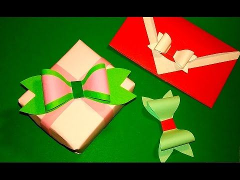 Paper FLOWER - BOW   Decoration and gift   Origami Tutorial DIY ...   360x480