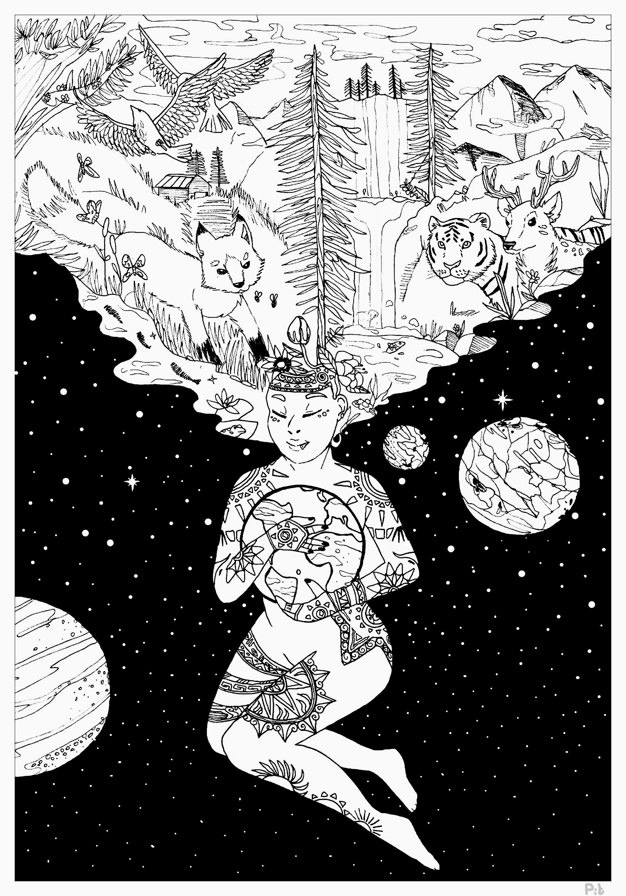 Earth day by pauline earth day coloring pages for adults
