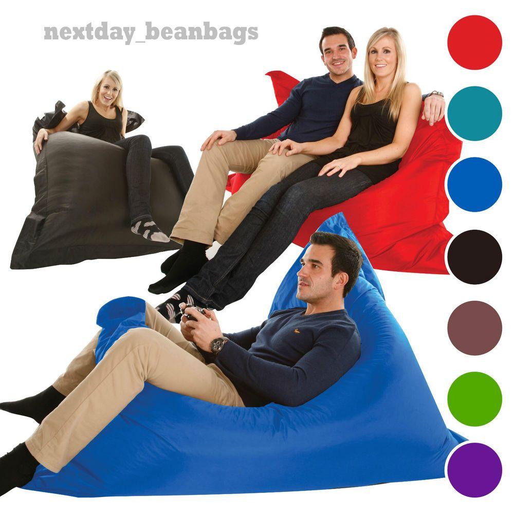 Details About Large Bean Bag Giant Indoor Outdoor Beanbag Xxxl Beanbags Waterproof Big Bag Outdoor Bean Bag Large Bean Bags Bean Bag