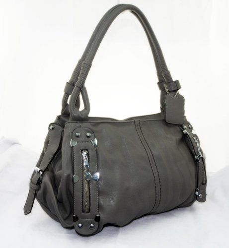 New York Hobo 210 Handbag Prada Inspired Style Nyc Gray