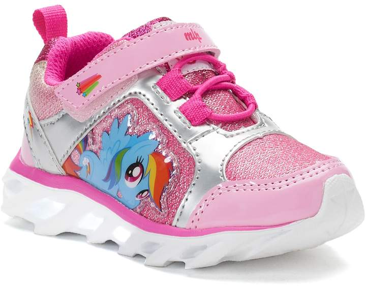 8c5ae35bdb4 My Little Pony Rainbow Dash Toddler Girls' Light-Up Sneakers ...