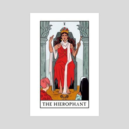Art Prints By Lisa Sterle Inprnt In 2020 Witch Tarot The Hierophant Modern Witch