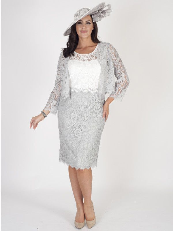 Grey Scallop Trim Lace Jacket Pre Order Delivery Due Mid April Evening Dressesevening