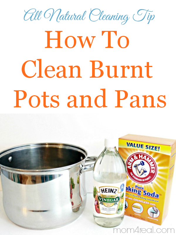 How To Clean Burnt Pots And Pans Natural Cleaning Trick