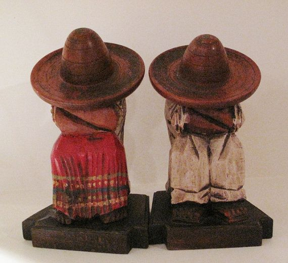 Mexican Siesta Book Ends by antiquesnoddities on Etsy, $75.00