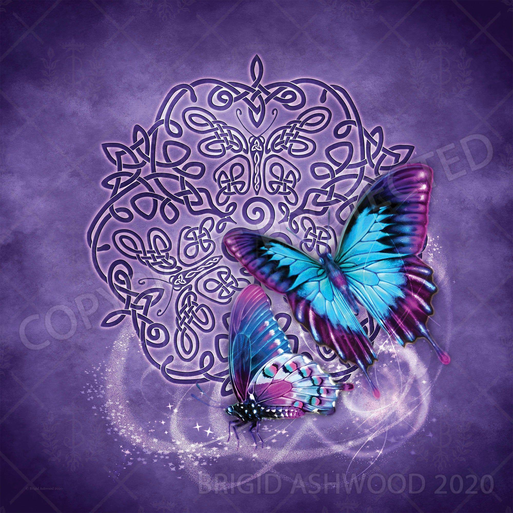 Butterfly Celtic Animal Totem Tarot Altar Cloth Scarf
