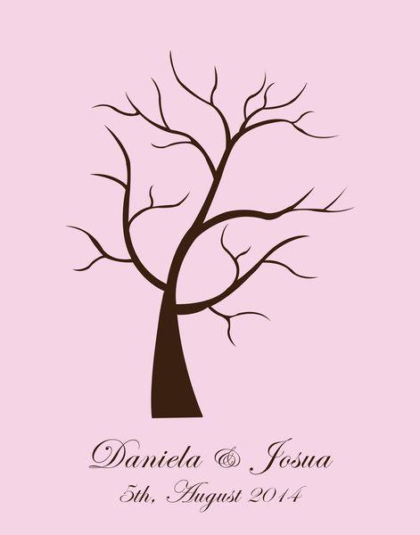 Árbol de huellas nacimiento, boda, árbol familia de By Yolanda por DaWanda.com