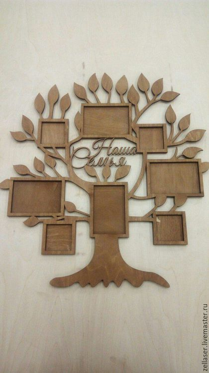 4b79f3bed4269 Купить или заказать Фоторамка 'Семейное дерево' в интернет-магазине на  Ярмарке Мастеров.