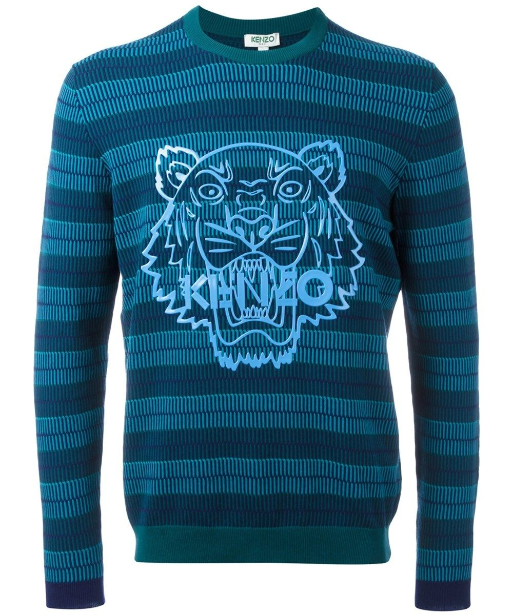 8d1e39f6 KENZO Kenzo Men'S Light Blue/Blue Cotton Sweater'. #kenzo #cloth #sweaters