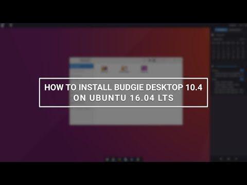 How to Install Budgie Desktop 10 4 on Ubuntu 16 04 - YouTube | How