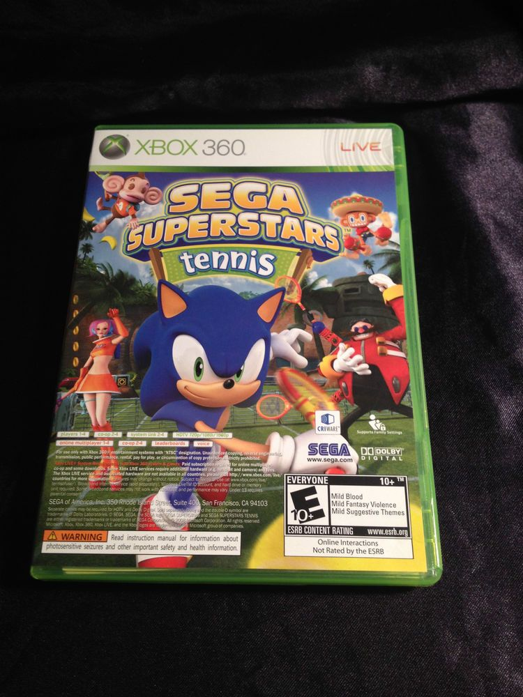 Sega Superstars Tennis For Xbox 360 Xbox 360 Xbox Superstar