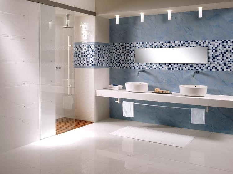 Porcelain stoneware wall/floor tiles with marble effect
