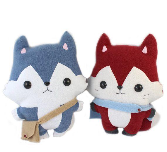 Plushie Sewing Pattern Bundle PDF Cute Soft Plush Toy - Husky Wolf ...