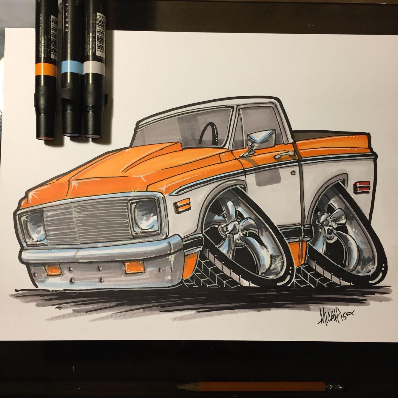 cartoons pickup trucks pickup truck automotive cartoon car art