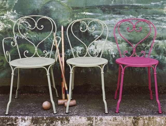 Gartenmöbel Pink Weiß Metall Shabby Chic Fermob 1900
