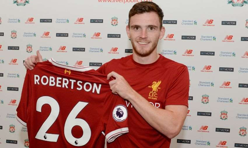 Andrew Robertson Has Claimed #26 Shirt At Liverpool. (With