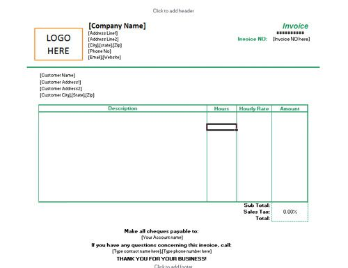 Freelance Invoice Templates In Word And Excel For Free  Invoice