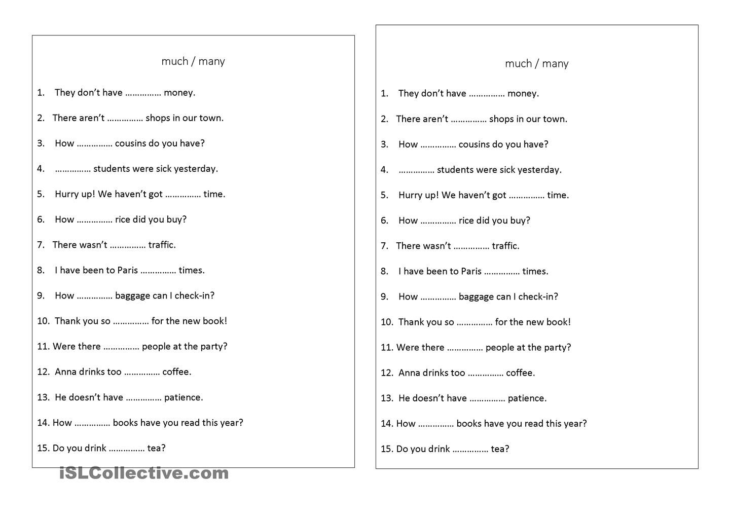 Much Many Exercise English Worksheets For Kids Common Core Math Worksheets Preschool Printable [ 1018 x 1440 Pixel ]