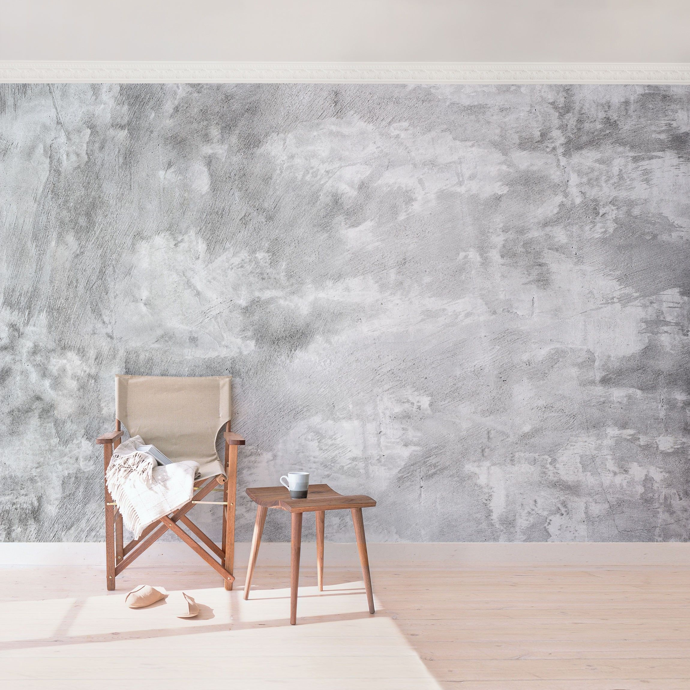 Betonwande Coolen Industrielook Mit Tapeten Wohnzimmerideenwandgestaltung Beton Wande Mit Tapeten Im Coo In 2020 Betontapete Tapeten Wohnzimmer Tapete Betonoptik