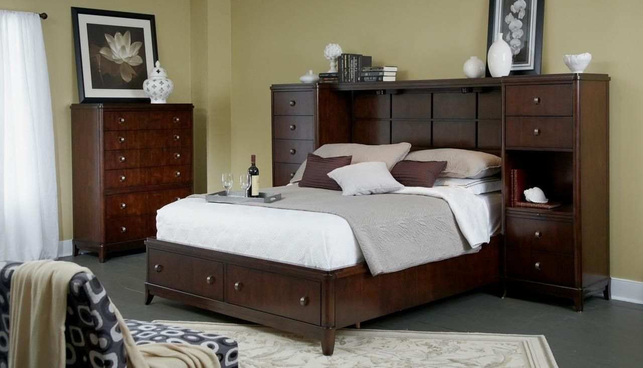 Good Edenfield Queen Wall Storage Bed With 2 Pier Chests U0026 Bridge By Folio 21 At  Story U0026 Lee Furniture